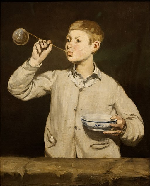 Boy_Blowing_Bubbles_Edouard_Manet https://commons.wikimedia.org/wiki/File:Boy_Blowing_Bubbles_Edouard_Manet.jpg