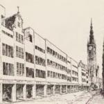 Otto Kloeppel, Danzig am Scheidewege, 1928, pbc.gda.pl, s. 19; wizja architektoniczna - przyszłość ulicy Długiej - dzięki Nadradcy Budowlanemu Martinowi Kiesslingowi;