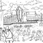 Ilustracja do gdańskich rozmówek Mikołaja Volckmara z 1612 roku; aut. Maria Turek